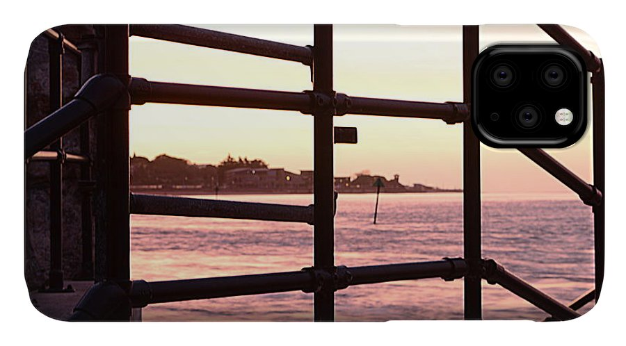 Railings IPhone Case featuring the photograph Early Morning Railings by Andy Thompson