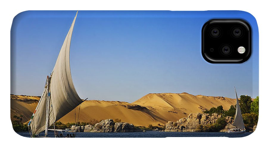 Sky IPhone Case featuring the photograph Egypt. The Nile At Aswan by Witr