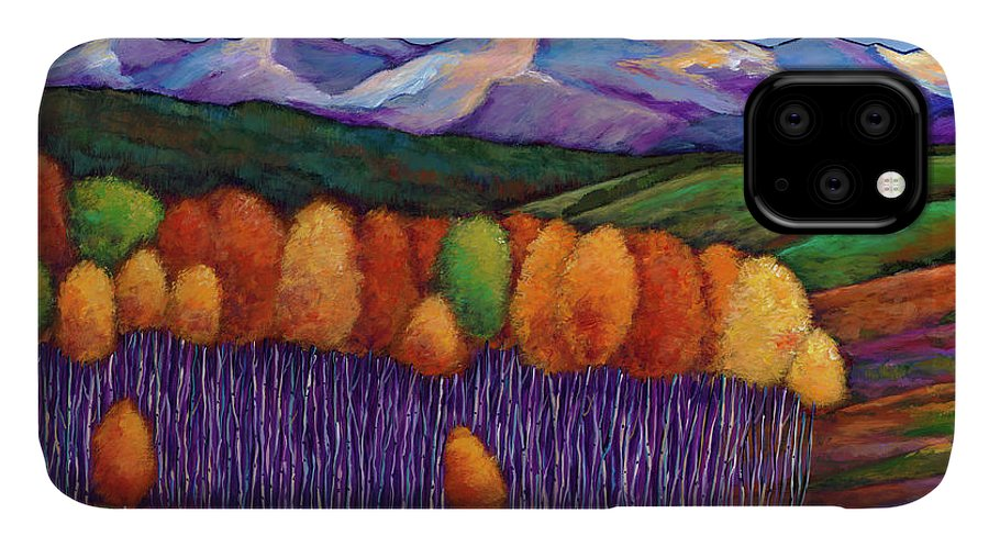 Aspen Trees IPhone Case featuring the painting Elysian by Johnathan Harris