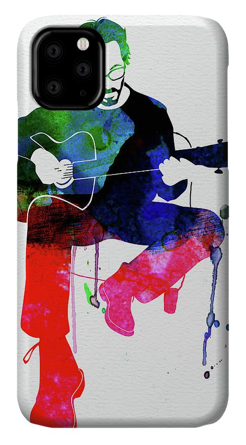 Eric Clapton IPhone Case featuring the mixed media Eric Clapton Watercolor by Naxart Studio