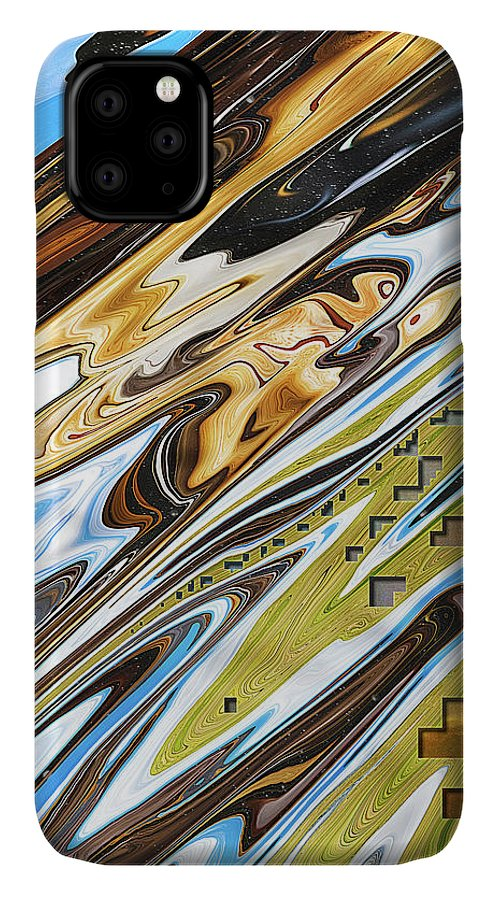 Abstract IPhone Case featuring the digital art Espresso at the Park by Jack Entropy