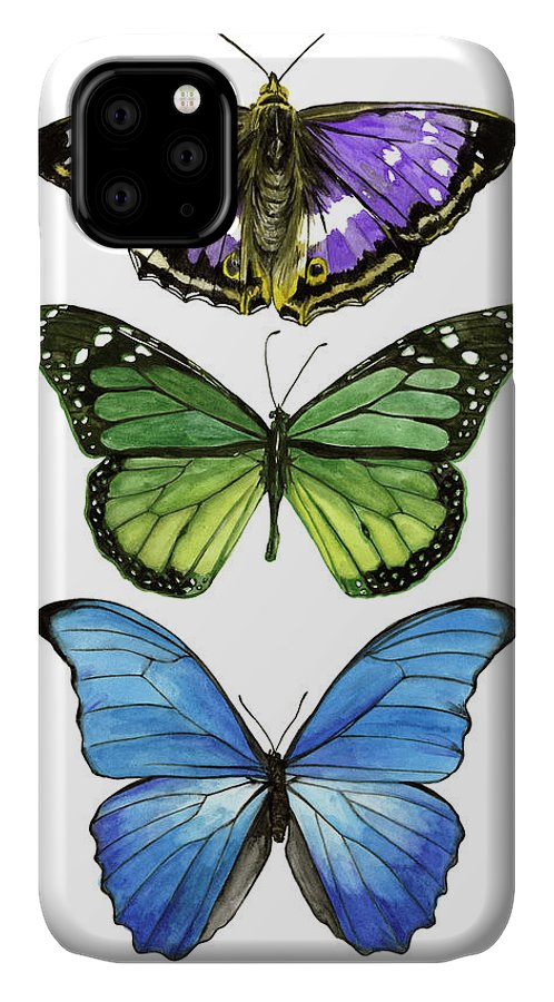 Animals & Nature+butterflies & Bees IPhone Case featuring the painting Falling From I by Melissa Wang