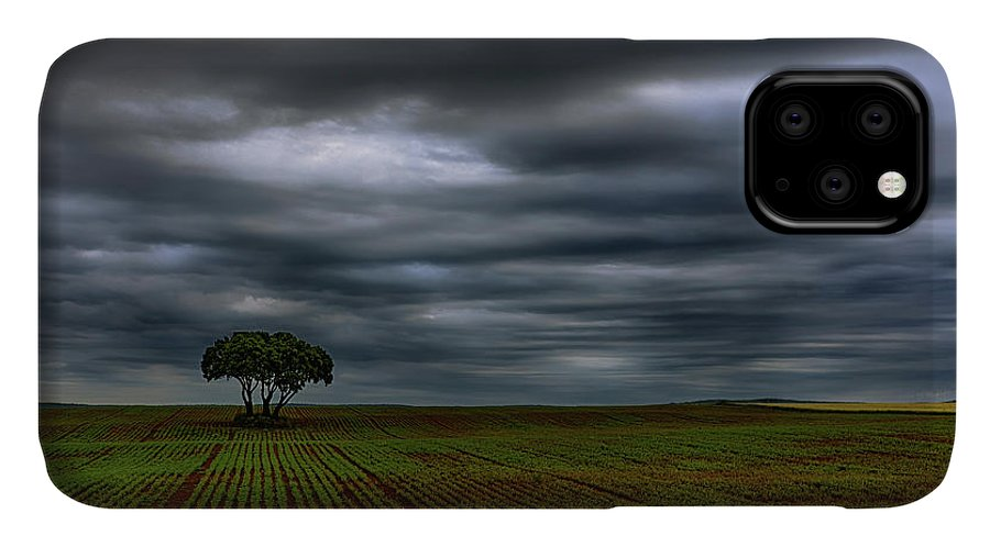Nature IPhone Case featuring the photograph Field And Storm by Vicente Sargues