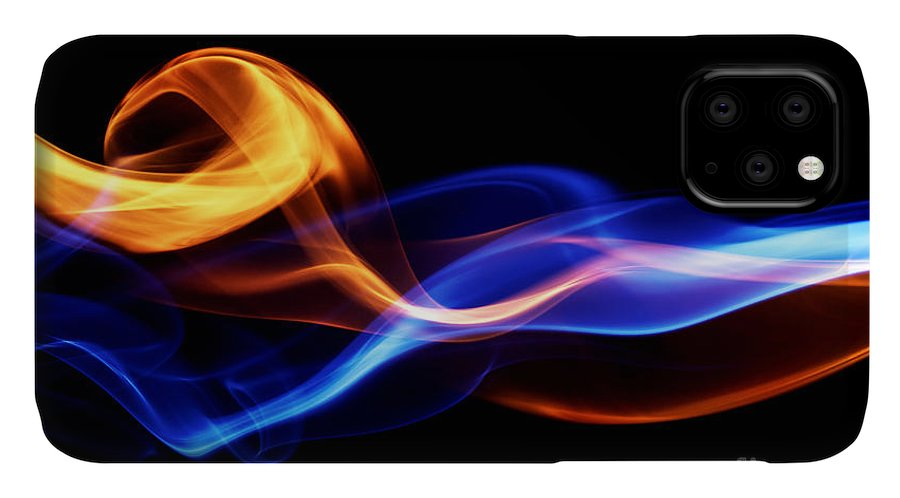 Template IPhone Case featuring the digital art Fire & Ice Design by Leigh Prather