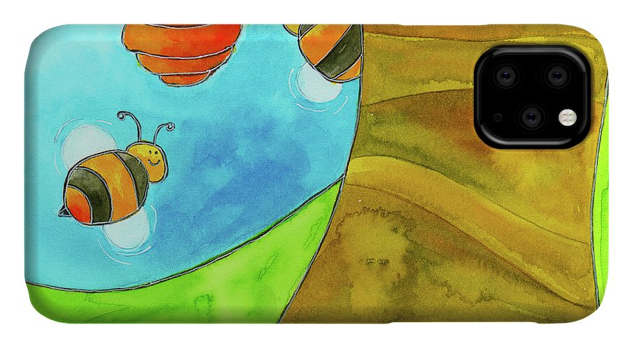 A Beehive Hanging From A Tree IPhone Case featuring the mixed media Fpinf018 by Esteban Studio