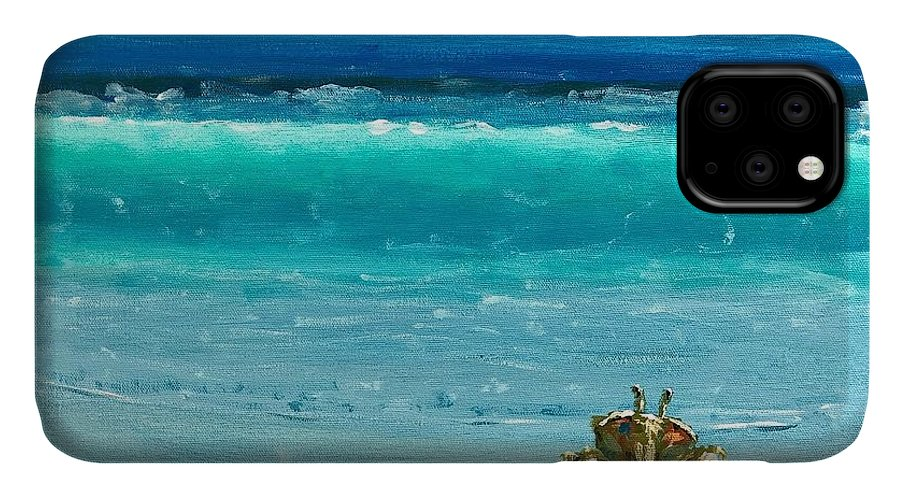 Ghost Crab IPhone Case featuring the painting Ghost Crab by Paul Emig