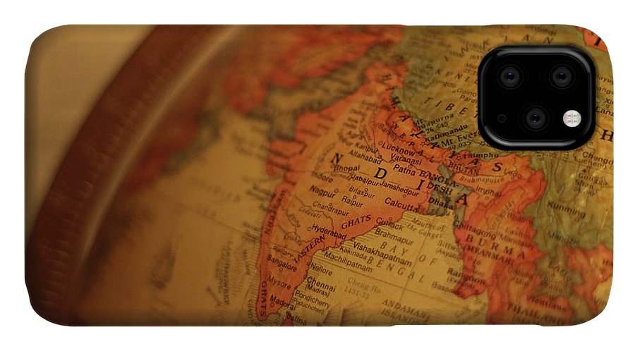 Globe IPhone Case featuring the photograph Global India by Fred DeSousa