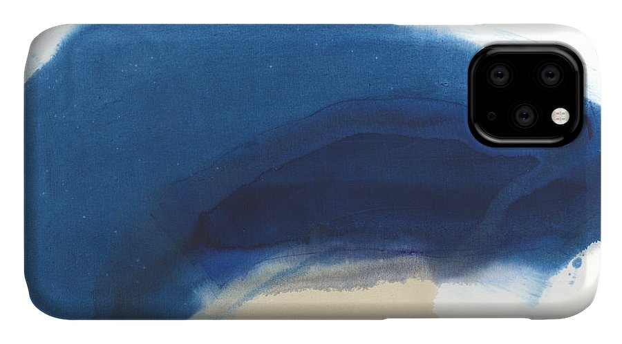 Abstract IPhone 11 Case featuring the painting Go Easy by Claire Desjardins