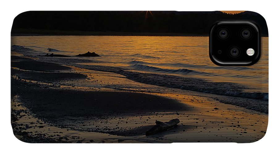 Sleeping IPhone 11 Case featuring the photograph Good Harbor Bay Sunset by Heather Kenward