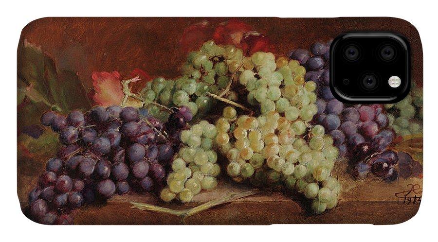 Antonio Jose Da Costa IPhone Case featuring the painting Grapes, 1914 by Antonio Jose da Costa