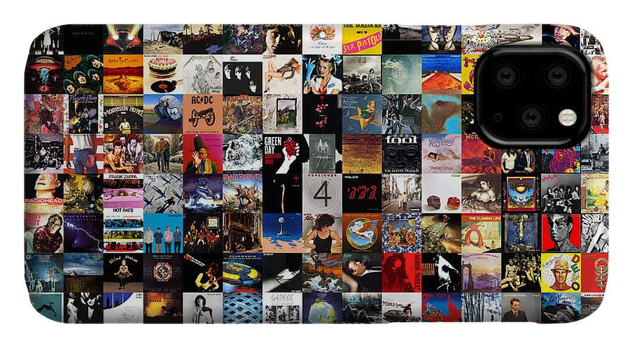 Album Covers IPhone Case featuring the digital art Greatest Album Covers of All Time by Zapista OU