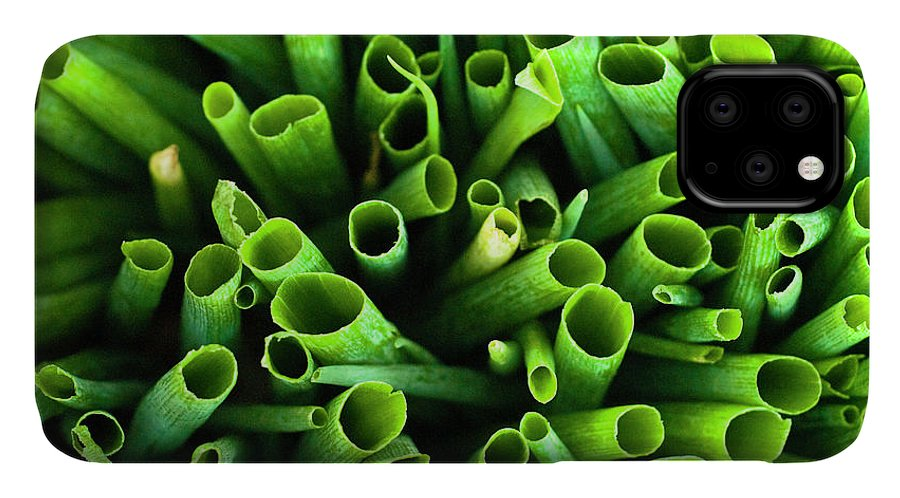 Large Group Of Objects IPhone Case featuring the photograph Green Onions by By Ken Ilio