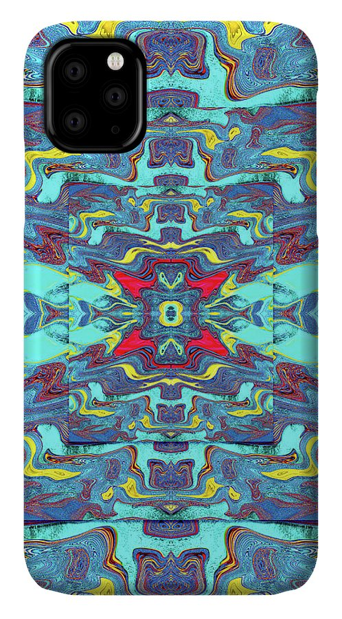 Abstract IPhone Case featuring the digital art Obscure Depths of the Ocean by Jack Entropy