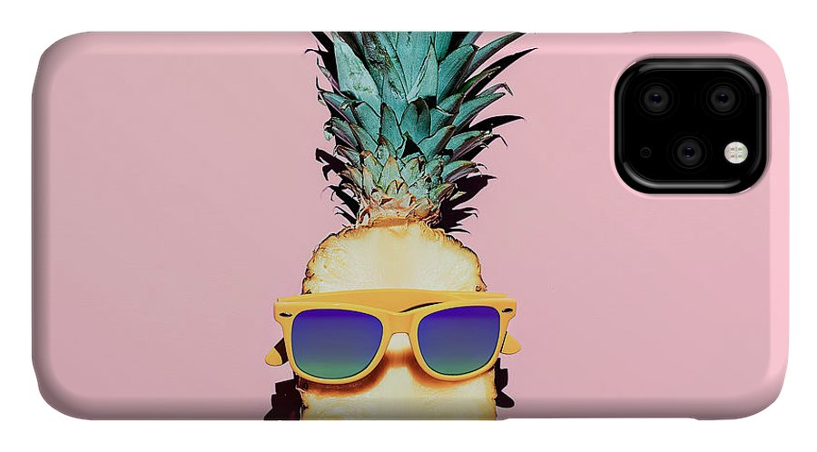 Fancy IPhone Case featuring the photograph Hipster Pineapple Fashion Accessories by Evgeniya Porechenskaya
