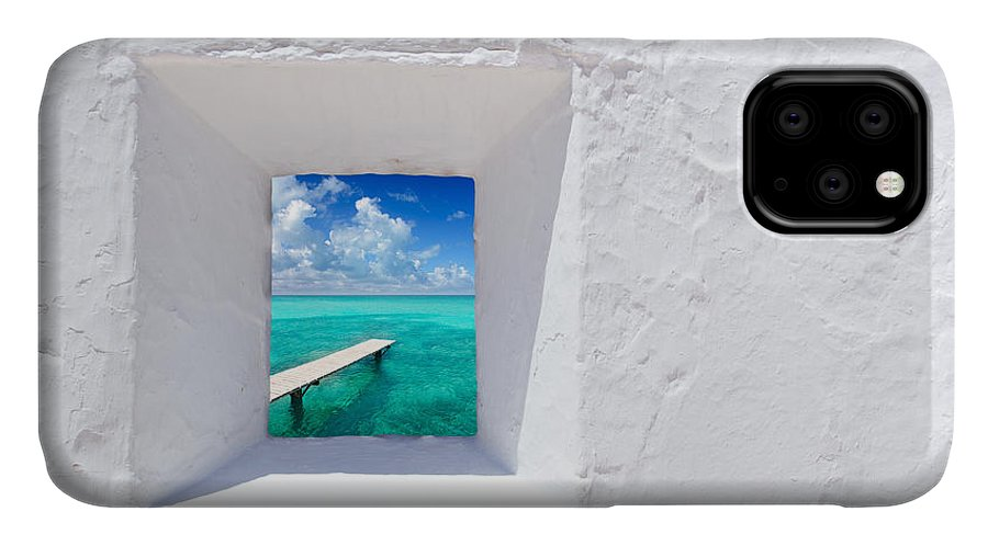 Spain IPhone Case featuring the photograph Ibiza Mediterranean White Wall Window by Lunamarina