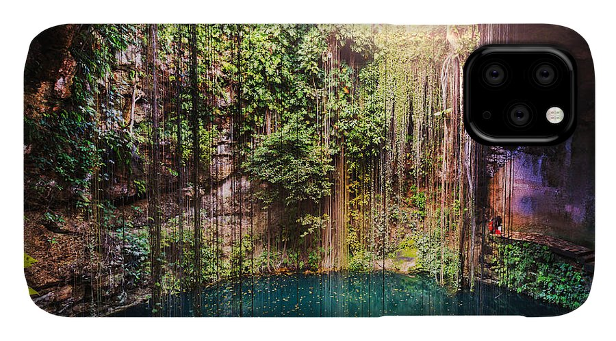 Pond IPhone Case featuring the photograph Ik-kil Cenote, Mexico by Galyna Andrushko