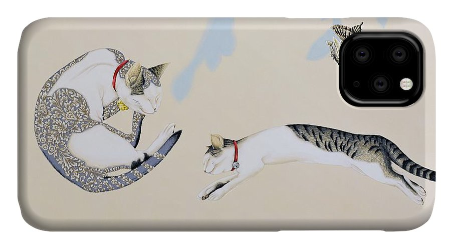 Asian IPhone Case featuring the painting Japanese Modern Interior Art #107 by ArtMarketJapan