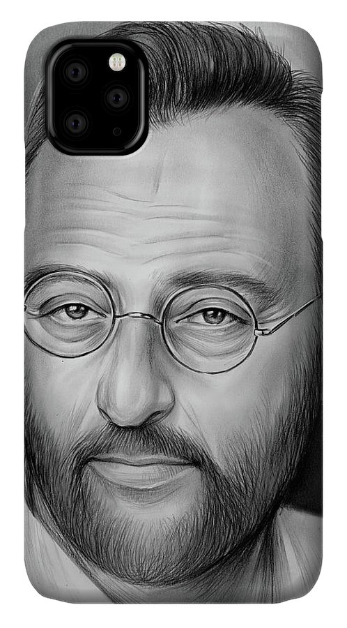 Jean Reno IPhone Case featuring the drawing Jean Reno by Greg Joens