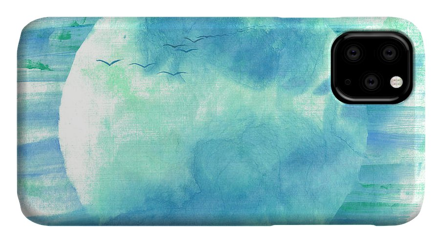 Majestic Cranes Journey Beyond Where Eyes Can See. The Painting Is Done With Watercolor On Rice Paper By Mui-joo Wee In Simple Contemporary Brush Strokes IPhone Case featuring the painting Journey Beyond by Mui-Joo Wee