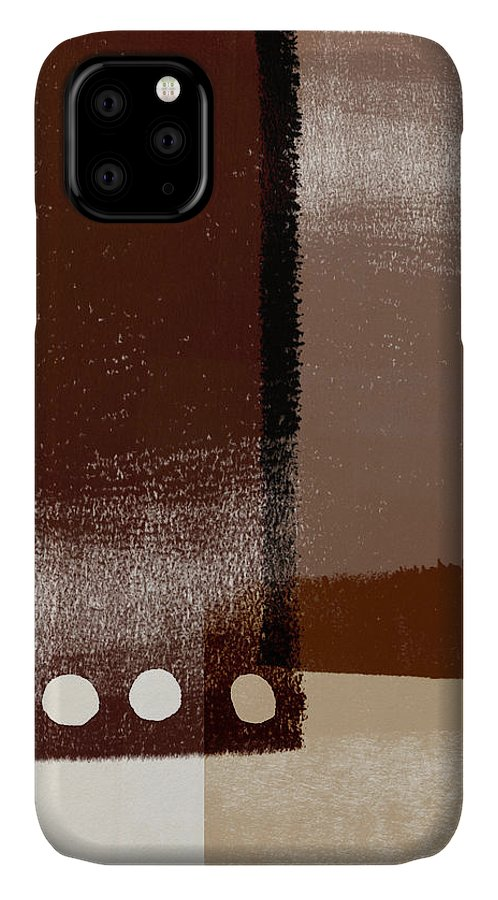 Modern IPhone Case featuring the mixed media Karamel 4- Art By Linda Woods by Linda Woods