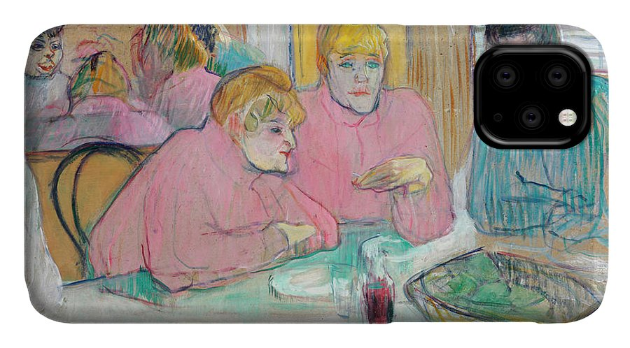 The Ladies In The Dining Room IPhone Case featuring the painting Ladies In The Refectory by Henri de Toulouse-Lautrec