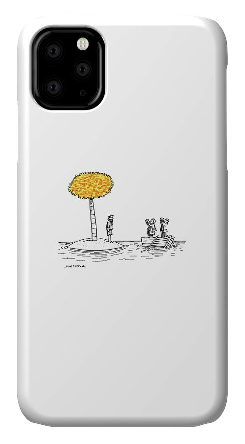 Stranded IPhone Case featuring the drawing Leaf Peeping by Joe Dator