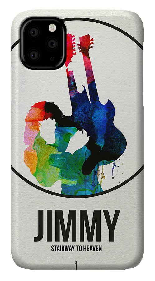 Led Zeppelin IPhone Case featuring the digital art Led Zeppelin Watercolor by Naxart Studio