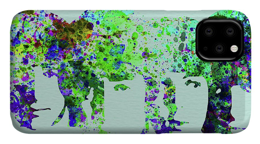 Beatles IPhone Case featuring the mixed media Legendary Beetles Watercolor II by Naxart Studio