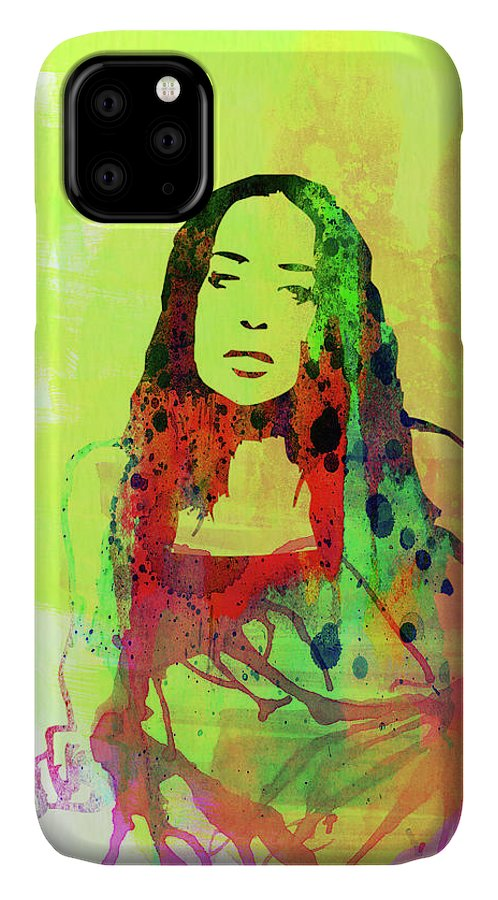 Fiona Apple IPhone Case featuring the mixed media Legendary Fiona Apple Watercolor by Naxart Studio