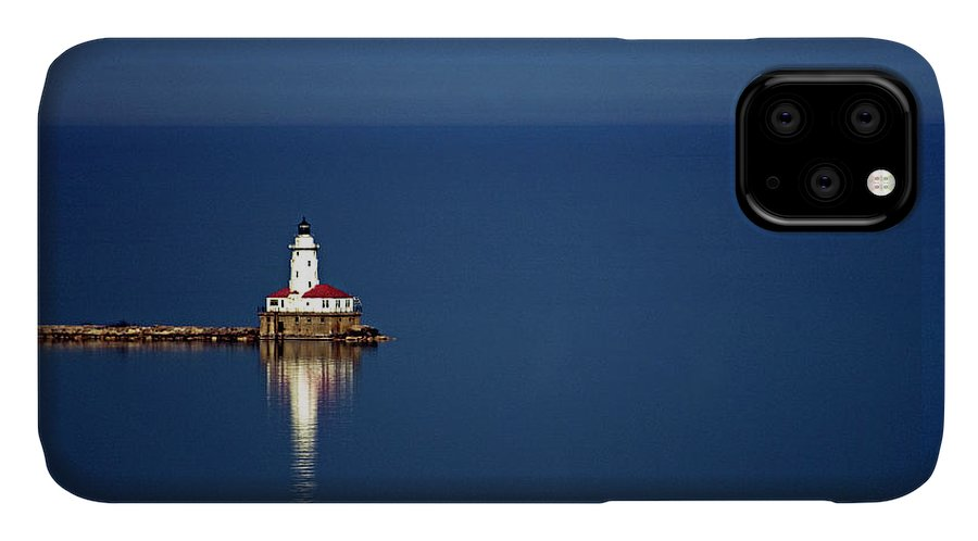 Outdoors IPhone Case featuring the photograph Lighthouse On A Lake by By Ken Ilio