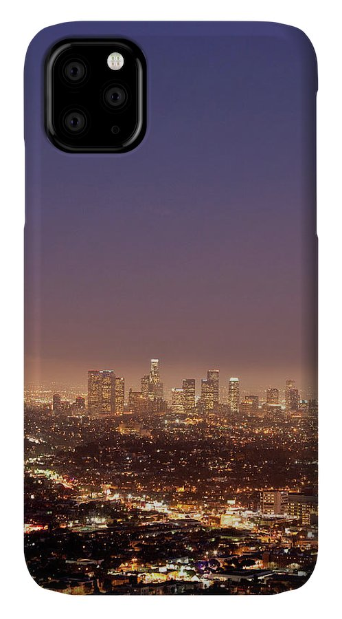 Scenics IPhone Case featuring the photograph Los Angeles Skyline At Twilight by Uschools