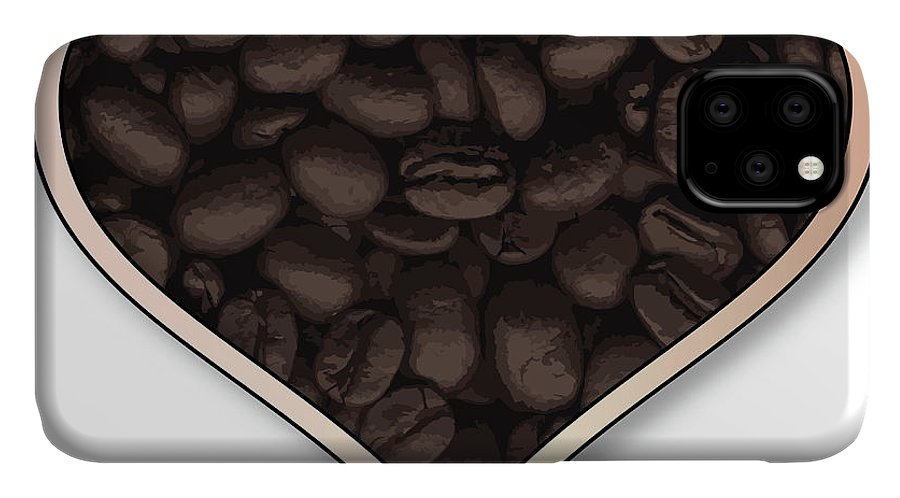 Love IPhone 11 Case featuring the digital art Love Coffee by Bigalbaloo Stock