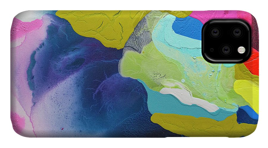Abstract IPhone Case featuring the painting Maya 02 by Claire Desjardins