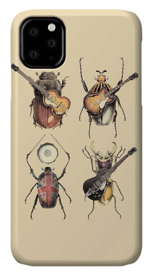 Beatles IPhone Case featuring the digital art Meet The Beetles by Eric Fan