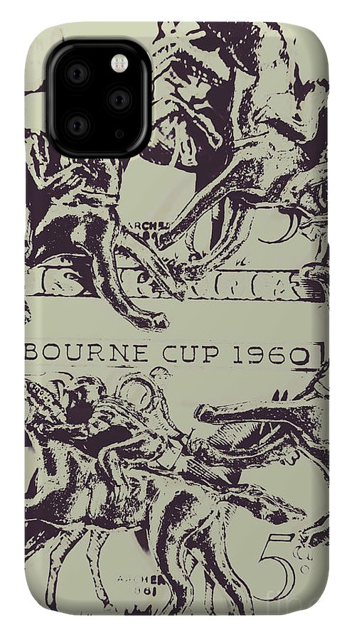 Race IPhone 11 Case featuring the photograph Melbourne Cup 1960 by Jorgo Photography - Wall Art Gallery