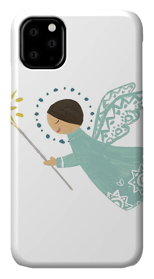Modern IPhone Case featuring the mixed media Modern Angel I by Lanie Loreth