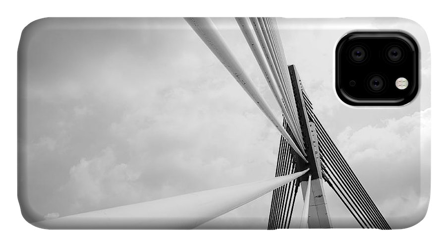 Saujana IPhone Case featuring the photograph Modern Bridge Architecture At Putrajaya by Azrisuratmin