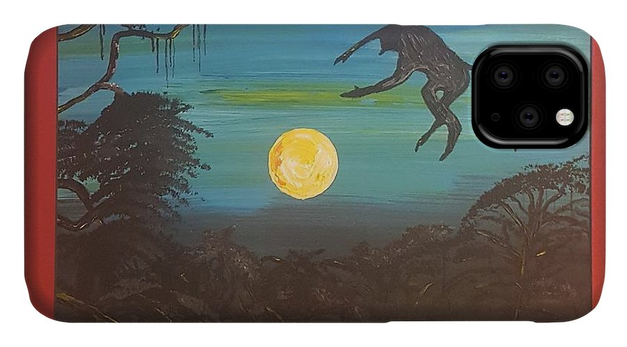 Moonlight Baboon IPhone Case featuring the photograph Moonlight Baboon by Quintus Curtius