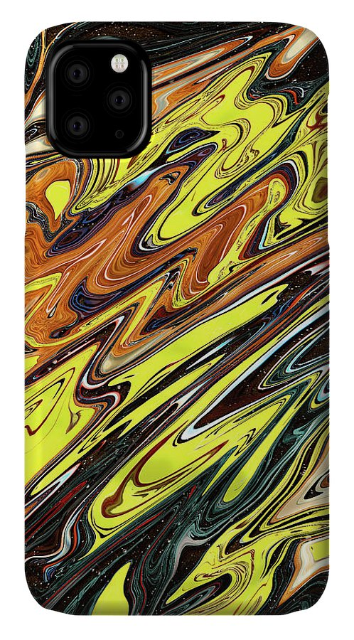 Abstract IPhone Case featuring the digital art Music Breaks by Jack Entropy