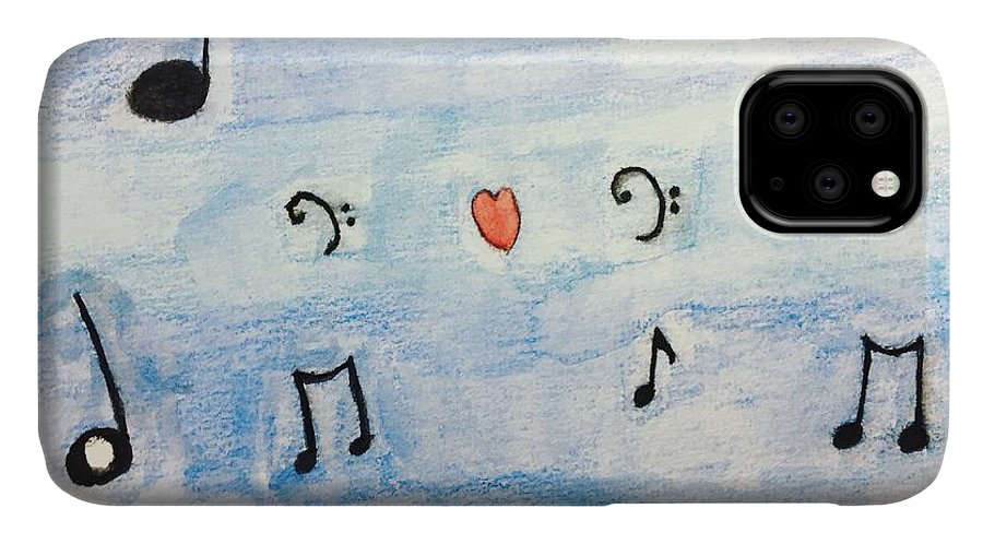 Music IPhone Case featuring the painting Music In The Air by Epic Luis Art