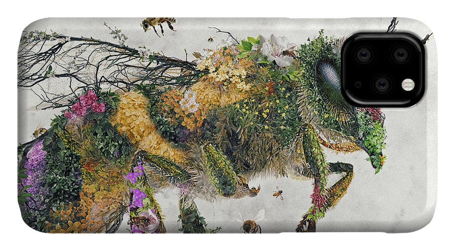 Honey Bees IPhone Case featuring the digital art Must be the honey by Barrett Biggers