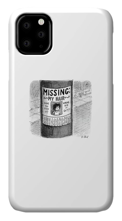 Hair Loss IPhone Case featuring the drawing My Hair by Roz Chast