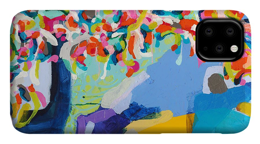 Abstract IPhone 11 Case featuring the painting My Vanity by Claire Desjardins