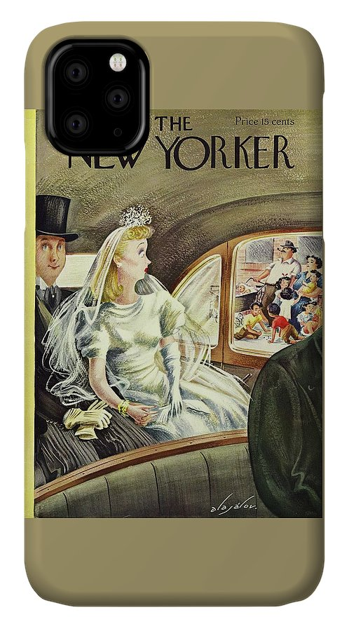 Auto IPhone Case featuring the painting New Yorker June 20 1942 by Constantin Alajalov