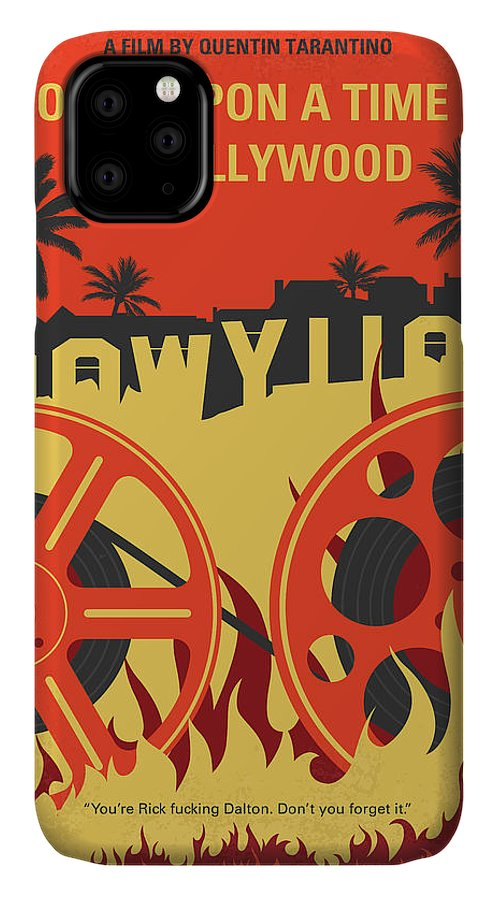 Once IPhone Case featuring the digital art No1120 My Once Upon A Time In Hollywood Minimal Movie Poster by Chungkong Art