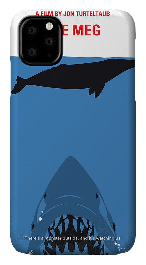 Meg IPhone 11 Case featuring the digital art No985 My Meg Minimal Movie Poster by Chungkong Art