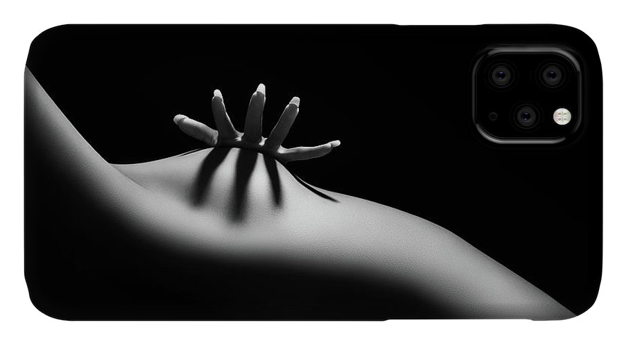 Woman IPhone Case featuring the photograph Nude woman bodyscape 11 by Johan Swanepoel