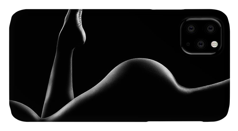 Woman IPhone Case featuring the photograph Nude woman bodyscape 14 by Johan Swanepoel