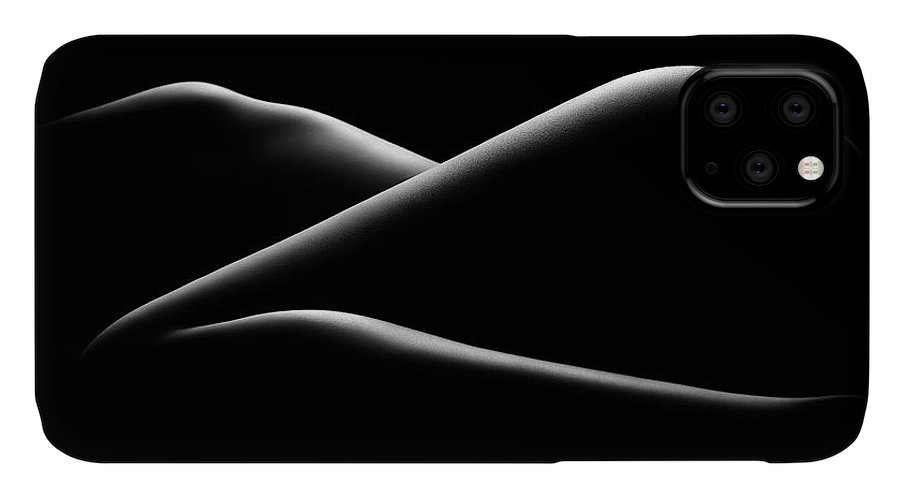 Woman IPhone Case featuring the photograph Nude woman bodyscape 17 by Johan Swanepoel