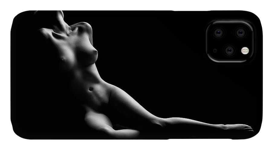 Woman IPhone Case featuring the photograph Nude woman bodyscape by Johan Swanepoel